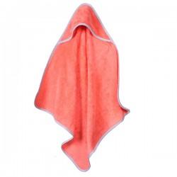 Baby Handdoek Zalm Rood Met Capuchon 75 x 75 cm