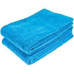 Bamboe Handdoek, Blauw, 70x140 cm, 600 gr m2